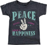 O'Neill Girls' Happy Vibes Graphic Tee - Little Kids - Periscope Graphic T Shirts