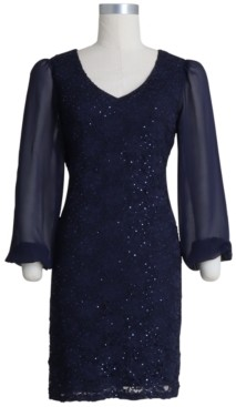 Connected Plus Size Sequinned Lace Sheath Dress