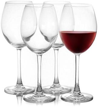 clear Pasabahce Enoteca 4-Piece 18.25 oz. Bordeaux Wine Glass Set,