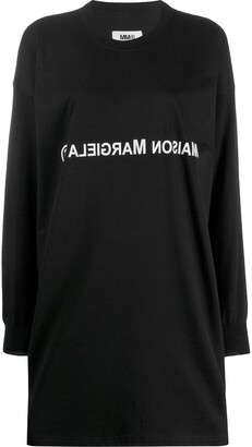MM6 MAISON MARGIELA Reversed Logo Crewneck Dress