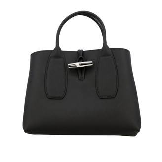 Longchamp Handbag Roseau Bag In Grained Leather With Shoulder Strap