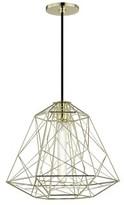 Gaynor 1 - Light Single Geometric Pendant Brayden Studio Finish: Polished Brass