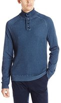 Calvin Klein Jeans Men's Cloud Wash Waffle Mock Neck Sweater
