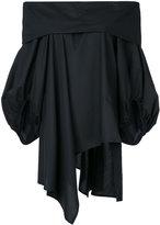 Enfold off shoulder draped blouse - women - Cotton - 36