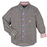 Andy & Evan Gingham Check Woven Shirt