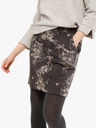 White Stuff Ash Jacquard Mini Skirt, Rock Grey
