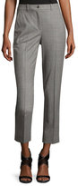 Michael Kors Sam Cropped Stretch-Wool Pants, Gray