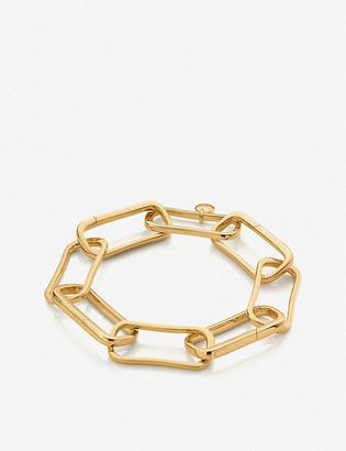 Monica Vinader Alta Capture Charm 18ct gold-vermeil large link bracelet