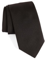 David Donahue Men's Stripe Silk Tie