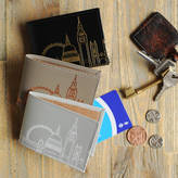 Undercover Recycled Leather London Skyline Travel Card Holder