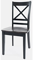 Jagger Solid Wood Side Chair (Set of 2) Breakwater Bay Color: Black