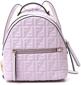 Fendi FF Motif Embossed Mini Backpack