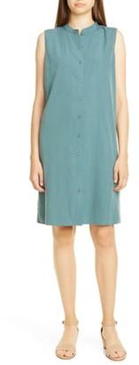 Eileen Fisher Band Collar Shift Dress
