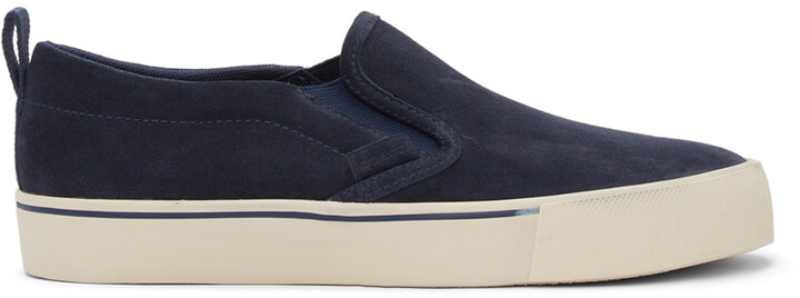 Coach 1941 Navy Suede Citysole Skate Slip-On Sneakers