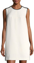 Rachel Roy Embellished-Neck Shift Dress