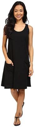 Fresh Produce Drape Dress (Black) Women's Dress