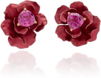 Anabela Chan Ruby 18K Gold Vermeil Sapphire Earrings