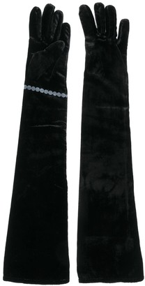 MM6 MAISON MARGIELA Long Velvet Gloves