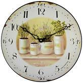 Roger Lascelles Herb Pots Wall Clock, Dia. 36cm