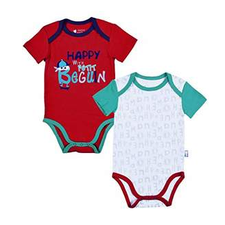 Camilla And Marc Holidays Pack of 2 Baby Boy's Short-Sleeved Bodysuits - Size - 9 Months (74 cm)