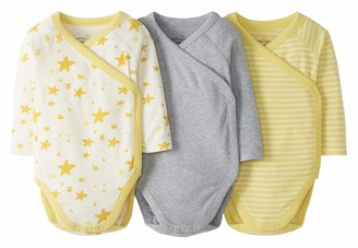 Moon and Back by Hanna Andersson 3 Pk Long Sleeve Side Snap Bodysuit T-Shirt Set