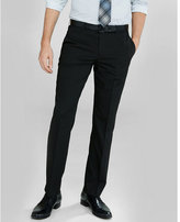 Express slim photographer black cotton sateen suit pant