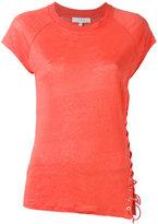 IRO side-tie fastening T-shirt - women - Linen/Flax - XS