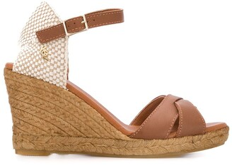 Kurt Geiger Leona high wedge heel espadrilles