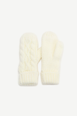 Ardene Lined Cable Knit Mittens