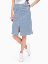 Splendid Indigo Patch Pocket Skirt