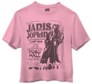 Junk Food Clothing Cotton Janis Joplin Cropped Crewneck T-shirt