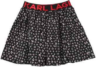 Karl Lagerfeld Paris & CHOUPETTE PRINTED VISCOSE SKIRT