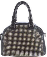 Christian Louboutin Spiked Leather Satchel