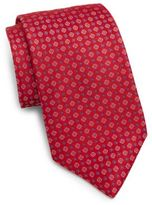 Saks Fifth Avenue Neat Square Medallion Silk Tie