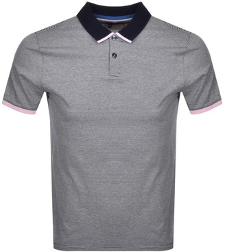 Ted Baker Caffine Polo T Shirt Navy