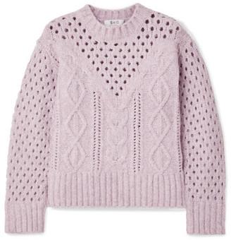 Sea Cora Cable-knit Sweater - Lavender