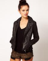 River Island Leather Biker Jacket