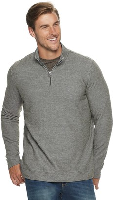 Croft & Barrow Big & Tall Marled Fleece Quarter-Zip Pullover