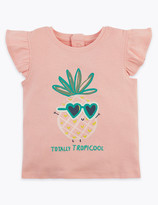 Marks and Spencer Cotton Pineapple T-Shirt (0-3 Years)