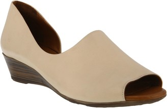 Spring Step Leather Slide Sandals - Lesamarie