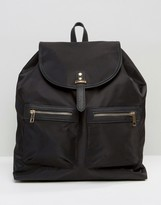 Asos Nylon Backpack With Pockets