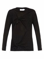 Marques Almeida MARQUES'ALMEIDA Slashed-knotted long-sleeved top