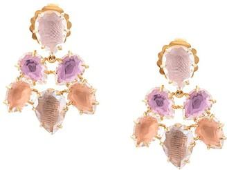 Larkspur & Hawk Caterina Pansy Rose Fawn earrings