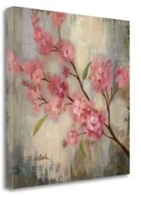 "Tangletown Fine Art Cherry Blossom Ii by Silvia Vassileva Giclee Print on Gallery Wrap Canvas, 18"" x 18"""