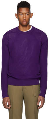 Ami Alexandre Mattiussi Purple Fisherman Rib Sweater