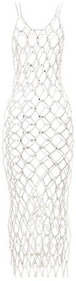 Paco Rabanne Crystal-embellished Chainmail Dress - Womens - Silver