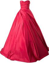 Romona Keveza strapless ruched dramatic ballgown