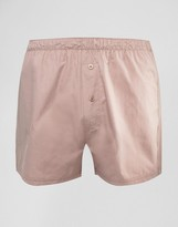 Asos Woven Boxers In Pink