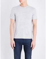 Sandro Marl-effect Linen T-shirt