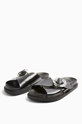 Topshop Womens Pedro Black Footbed Sandals - Black